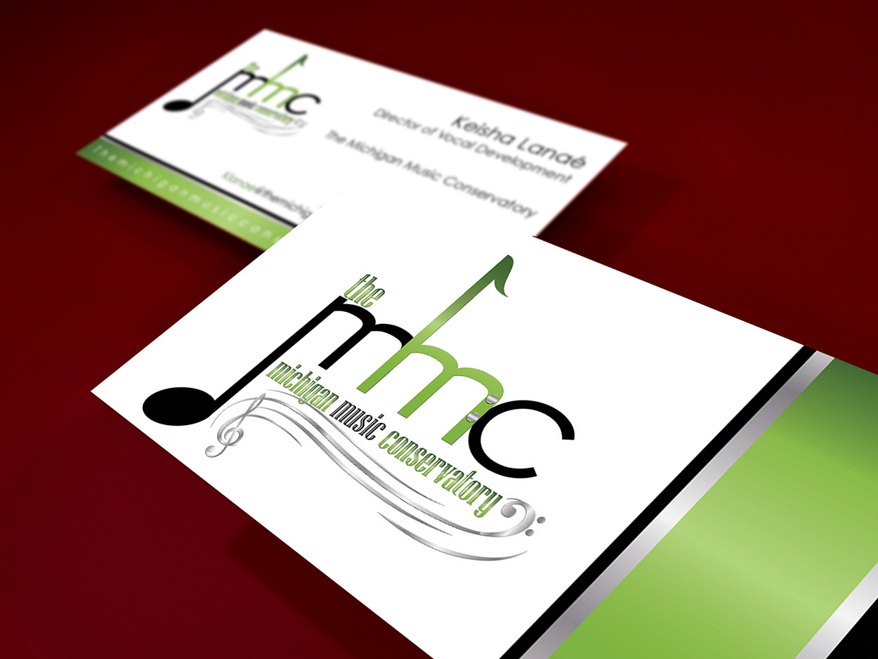 The Michigan Music Conservatory Business Card